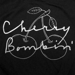 """cherry bombin'"" Tied bottom tank"